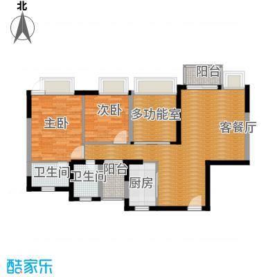 丰泰东海城堡90.00㎡3栋2、4单元03、04栋1单元03、07栋2、4单元03、0户型3室2厅2卫