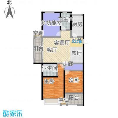 龙湖香醍漫步127.00㎡124号楼朝颜127平米户型3室2厅2卫