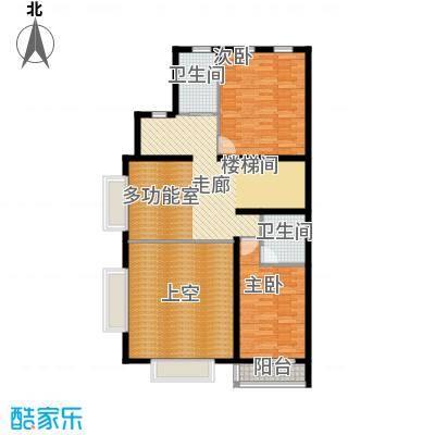 华瀚净月公馆双拼A二层和三层户型2室2卫