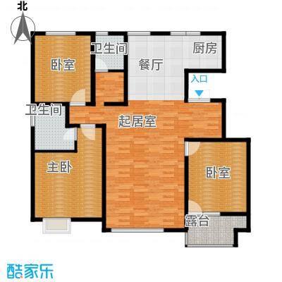 亿利傲东国际140.00㎡9层户型3室2厅2卫
