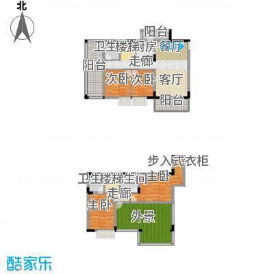 金田花园花域153.31㎡19栋复式F1户型4室2厅3卫