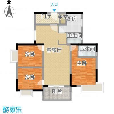 天邑宏御花园118.00㎡7栋Ga-2户型3室2厅2卫