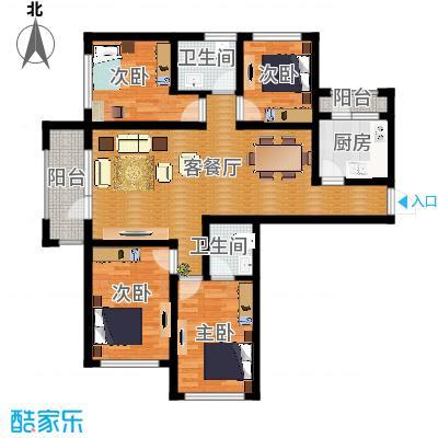 平谷蓝熙庭114.07㎡A户型4室2厅2卫