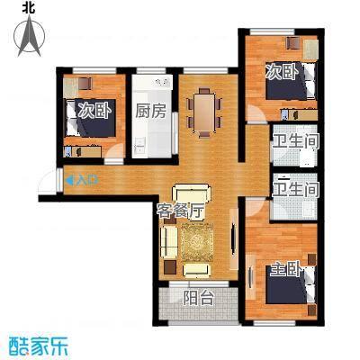平谷蓝熙庭122.67㎡A户型4室2厅2卫