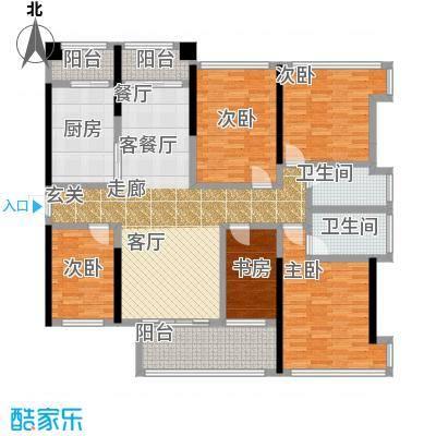 金亨利都荟首府C型东向户型5室1厅2卫1厨