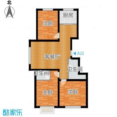 水泉文苑97.63㎡户型3室2厅2卫