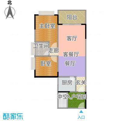 中惠香樟半岛71.04㎡10/11栋02户型1厅1卫1厨