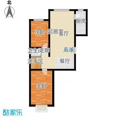 水泉文苑A户型2室2厅1卫