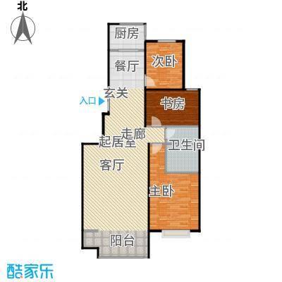 锦绣华城118.33㎡二期B户型