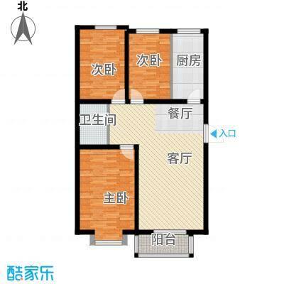 大学时光112.00㎡L-1户型3室2厅1卫