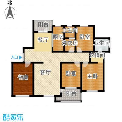 嘉恒国际148.72㎡户型2室1厅2卫1厨