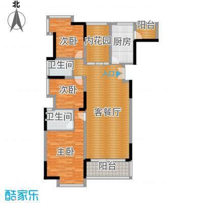 长城世家二期125.42㎡25-27#01单位户型3室1厅2卫1厨