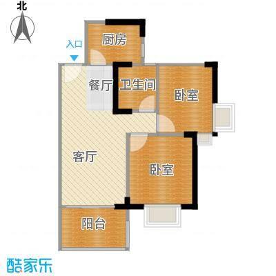 中惠香樟半岛73.00㎡14栋25栋07户型2室2厅1卫