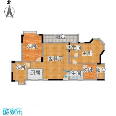 大步海滨花园三期149.43㎡3号楼标准层02单元01户型4室2厅1卫