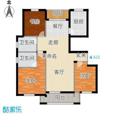 朗庭山129.56㎡D揽海听涛户型3室2厅2卫