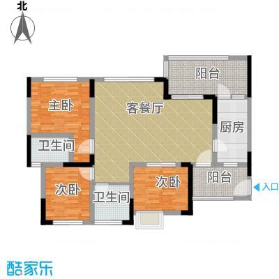 绿城上岛100.50㎡3号楼B-5户型3室2厅2卫