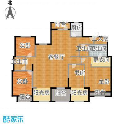 麦迪逊花园二期244.57㎡平层别墅e6户型4室2厅3卫