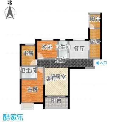 恒大翡翠华庭2-5号楼D户型3室2卫1厨
