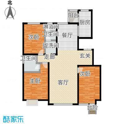 亿利傲东国际146.00㎡首层户型3室2厅2卫LL