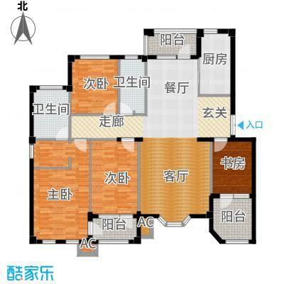 运达诺维溪谷147.58㎡D1 四室二厅二卫户型4室2厅2卫