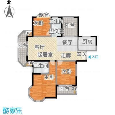 永新秀郡138.00㎡高层标准层D户型3室2厅2卫