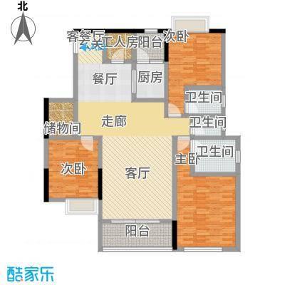 湖景壹号庄园户型3室1厅3卫1厨
