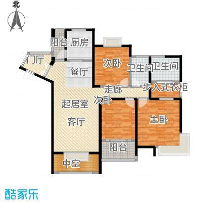 领秀冠南苑139.00㎡二期1#标准层01室户型3室1厅2卫