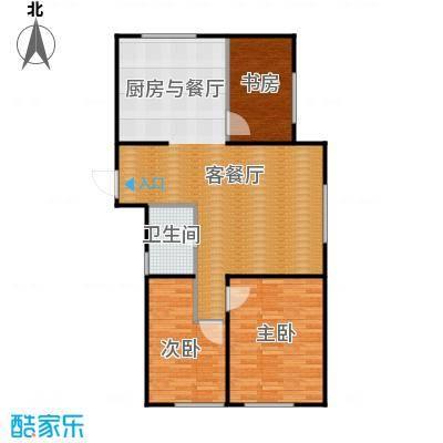 亿合城124.00㎡3号楼D户型3室2厅1卫