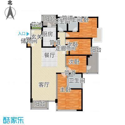 馨湖园199.00㎡7Da户型4室2厅3卫户型LL
