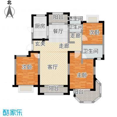 澜调国际130.00㎡小高层C03户型3室2厅2卫