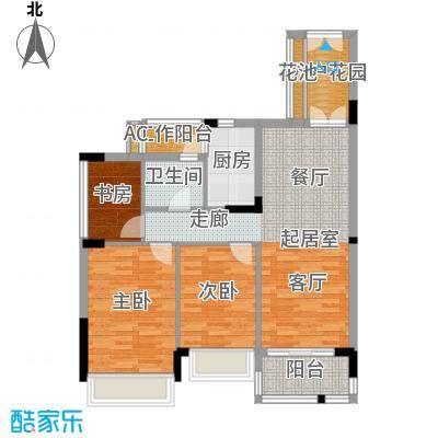 路劲隽悦豪庭F区30、31栋02单位户型3室1卫1厨