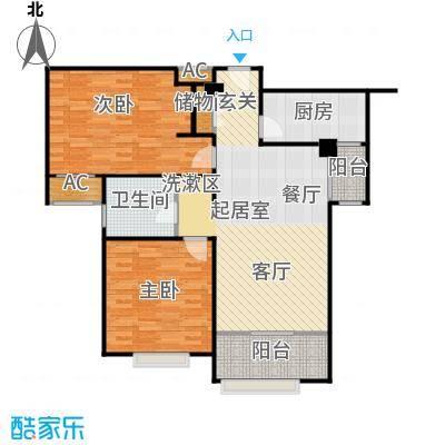 宝能城101.00㎡E-2户型2室2厅1卫
