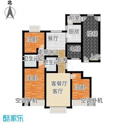 荣斌公园壹号138.73㎡E户型3室2厅2卫