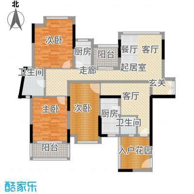 招商观园6栋二、三单元E、F户型图户型