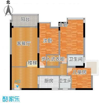 湖景壹号庄园122.23㎡户型10室