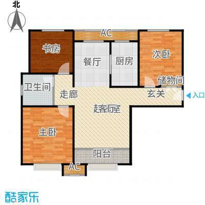 宝能城105.00㎡A-1户型3室2厅1卫