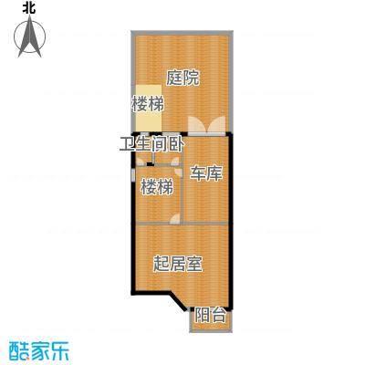 富士庄园三期樱花墅122.42㎡联排别墅42、43、48#楼地下一层户型3室7厅3卫