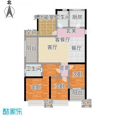 龙湖香醍漫步三期滨水三角洲143平米户型4室2厅2卫