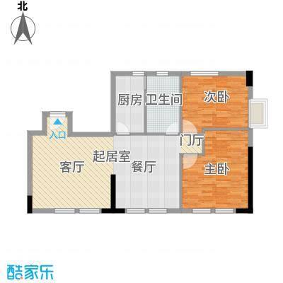 邦泰国际公寓103.66㎡20层01单元户型2室1卫1厨