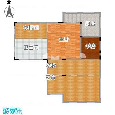 皇庭壹�公馆144.86㎡独栋别墅B户三层平面图户型2室1卫