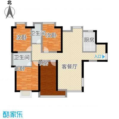 中信观澜凯旋城项目7、11-12栋标准层F户型4室2厅2卫1厨125.00㎡