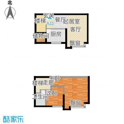 名品建筑92.12㎡名品建筑92.12㎡2室2厅1卫户型2室2厅1卫