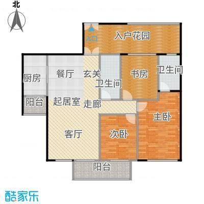 龙城国际137.79㎡龙庆阁02奇数层平面图户型3室2卫1厨