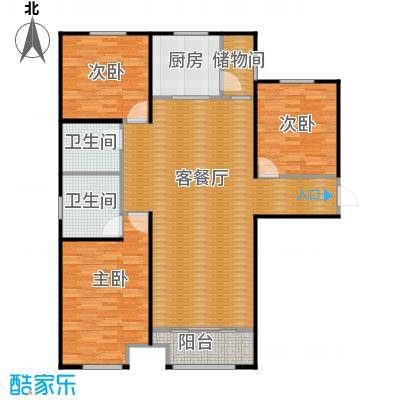 中海外滩133.00㎡B户型3室2厅2卫