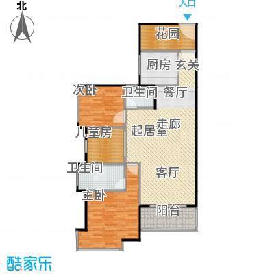 伟隆国际花园95.00㎡1栋02、032+户型3室2卫1厨