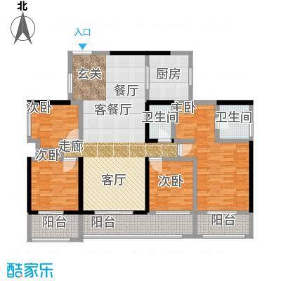 金亨利都荟首府D型户型4室1厅2卫1厨