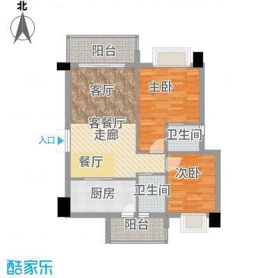 虎门地标户型2室1厅2卫1厨