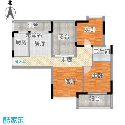 武汉锦绣香江104.00㎡C1栋05C2栋01/05C3栋01单元改装前2室户型2室2厅1卫