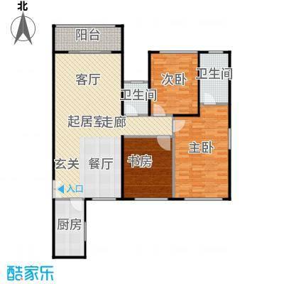 龙城国际110.50㎡龙庆阁04奇数层平面图户型3室2卫1厨