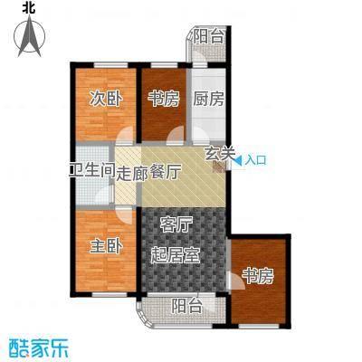 文景清华园110.08㎡四室两厅一卫户型4室2厅1卫